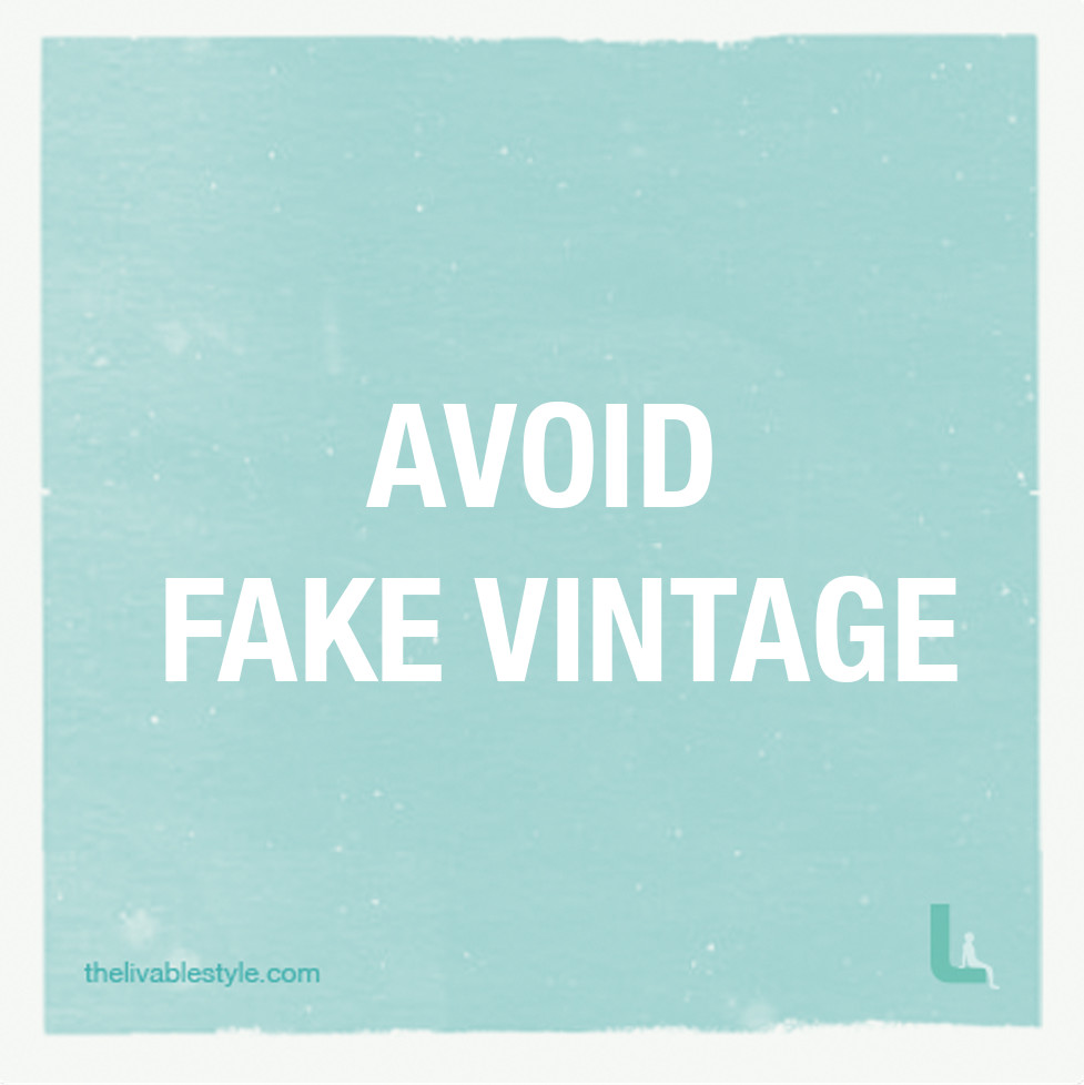 avoid fake vintage